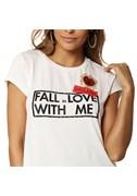 BLUSA T SHIRT FALL LOVE
